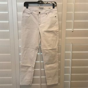 Jones New York Jeans Jones New York Jeans White Soho Ankle Size 8 Poshmark